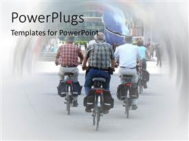 PowerPlugs: PowerPoint template with lots of elderly people riding motorcycle's on a road