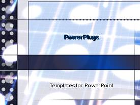 PowerPoint template displaying lots of flood lights behind a white blurry background