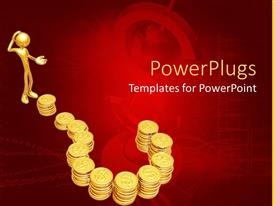 PowerPlugs: PowerPoint template with lots of gold coins arranged to form a question mark