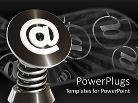 PowerPlugs: PowerPoint template with lots of large 2 symbols all on a black colored background
