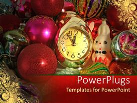 PowerPlugs: PowerPoint template with lots of multi colored christmas balls, gifts  and ornaments