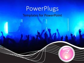 PowerPlugs: PowerPoint template with lots of people in a club dancing happily to music