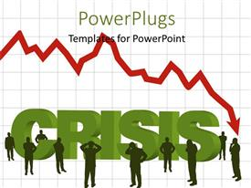 PowerPlugs: PowerPoint template with lots of people with a text that spells out the word ' Crisis'