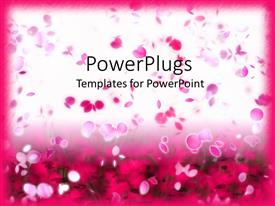 PowerPlugs: PowerPoint template with lots of pink colored flower petals floating on a white background