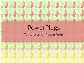 PowerPlugs: PowerPoint template with lots of purple colored stars and pink flowers on a white surface