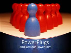 PowerPlugs: PowerPoint template with lots of red shapes with a leading blue colored one