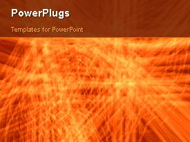 PowerPlugs: PowerPoint template with lots of shinning moving orange lines on a plain orange background