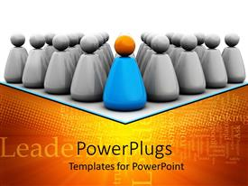 PowerPlugs: PowerPoint template with lots of shinny silver colored characters arranged in rows