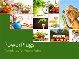 PowerPlugs: PowerPoint template with lots of tiles depicting a theme of healthy living