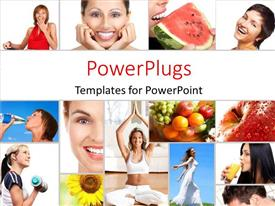 PowerPlugs: PowerPoint template with lots of tiles with ladies performing different exercises