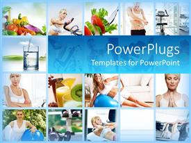 PowerPlugs: PowerPoint template with lots of tiles showing different women doing different exercises