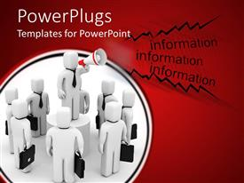 PowerPlugs: PowerPoint template with lots of white human figures talking on a red background
