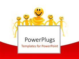 PowerPlugs: PowerPoint template with lots of yellow characters with smiley faces on a white background