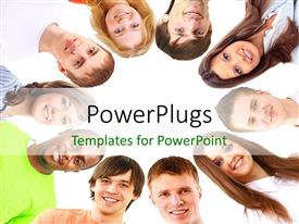 PowerPlugs: PowerPoint template with a number of professionals with white background