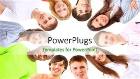 PowerPoint template displaying a number of professionals with white background