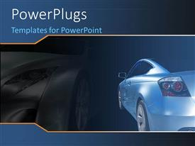 PowerPlugs: PowerPoint template with a luxurious car with its shadow in the background