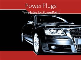 PowerPlugs: PowerPoint template with a luxury car with black background and place for text