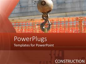 PowerPlugs: PowerPoint template with a machine in working with construction material