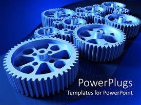 PowerPlugs: PowerPoint template with how a machine works a concept with set of gears