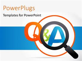PowerPlugs: PowerPoint template with magnifying glass with question and answer keyword