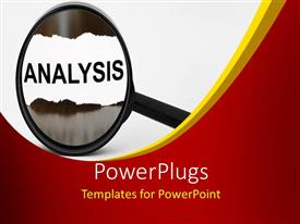 PowerPlugs: PowerPoint template with a magnifying glass with the word analysis