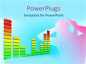 PowerPlugs: PowerPoint template with a male character wearing headphones and listening to music