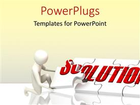 PowerPlugs: PowerPoint template with a number of puzzle pieces creating the solution