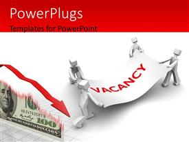 PowerPlugs: PowerPoint template with man fighting for available job vacancy with dollors