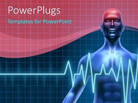 PowerPlugs: PowerPoint template with man with headache and heartbeat pulse shown