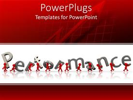 PowerPlugs: PowerPoint template with man and Performance
