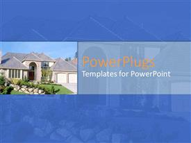 PowerPlugs: PowerPoint template with a mansion with its reflection in the background