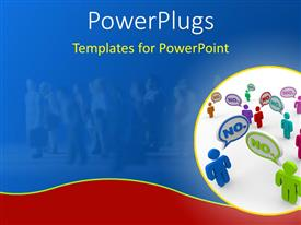 PowerPlugs: PowerPoint template with a circular tile with some 3D characters and text