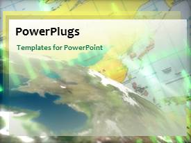PowerPlugs: PowerPoint template with a map in the background with a globe