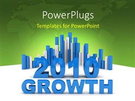 PowerPlugs: PowerPoint template with a map in the background with growth chart