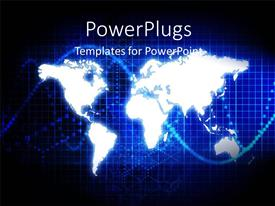 PowerPlugs: PowerPoint template with a map in the background with a place for text