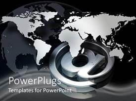 PowerPlugs: PowerPoint template with a map of the Earth in the background