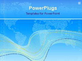 PowerPlugs: PowerPoint template with the map of Earth in the background with place for text in front