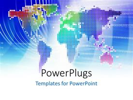 PowerPlugs: PowerPoint template with the map of the Earth in a colorful representation