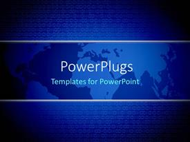 PowerPlugs: PowerPoint template with the map of the Earth with a lot of binary numbers