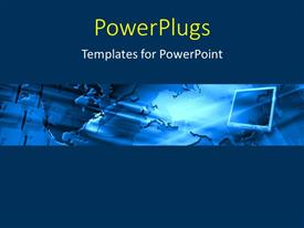 PowerPlugs: PowerPoint template with map of the Earth with a monitor
