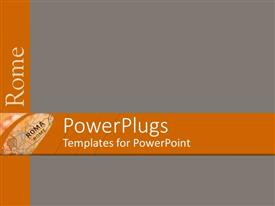 PowerPlugs: PowerPoint template with a map with grayish background and place for text
