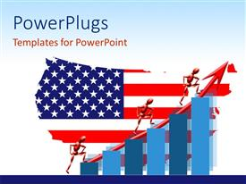 PowerPlugs: PowerPoint template with a map in the shape of American flag