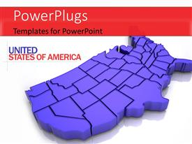 PowerPlugs: PowerPoint template with map of USA. 3d Very beautiful three-dimensional figure