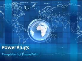 PowerPlugs: PowerPoint template with a map of the world in the background