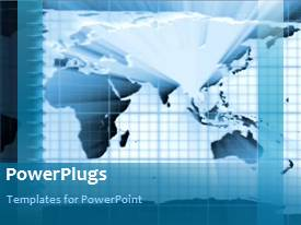 PowerPlugs: PowerPoint template with a map of the world with a light