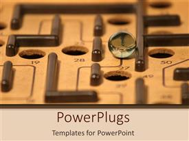 PowerPlugs: PowerPoint template with marble rolling through labyrinth maze, problem solving