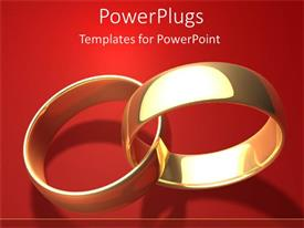 PowerPlugs: PowerPoint template with marriage marrying wedding two rings together forever diamonds wedding rings love lasts red