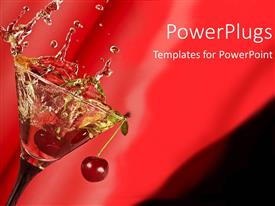 PowerPlugs: PowerPoint template with a martini with a number of cherries