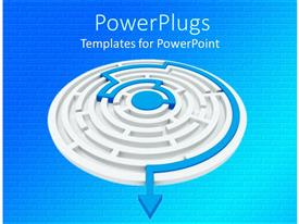 PowerPlugs: PowerPoint template with a maze along with the path highlighted