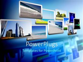 PowerPlugs: PowerPoint template with media stream of high technology and modern television